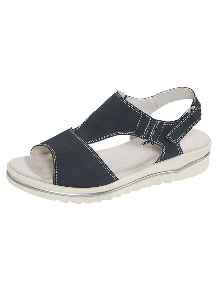 Naturläufer Sandale mit Elasteinsatz, Blau