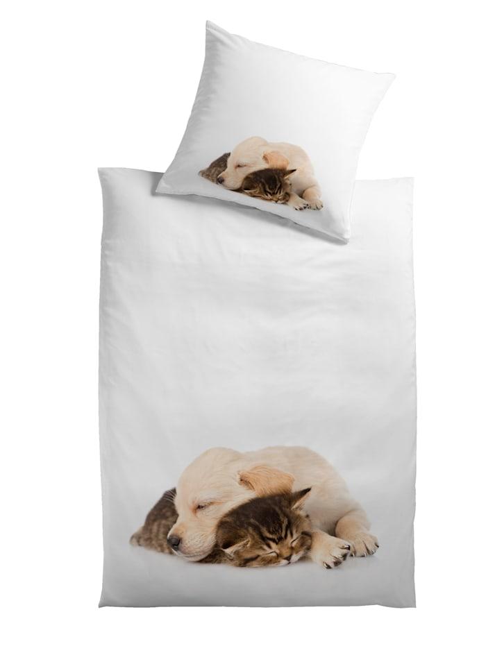 Kinzler 2-delige set bedlinnen Hond & Kat, Multicolor