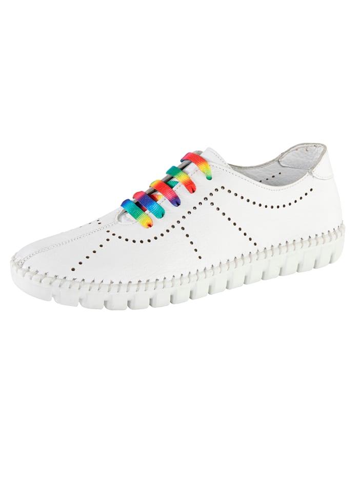 Gemini Sneakers à découpes estivales, Blanc