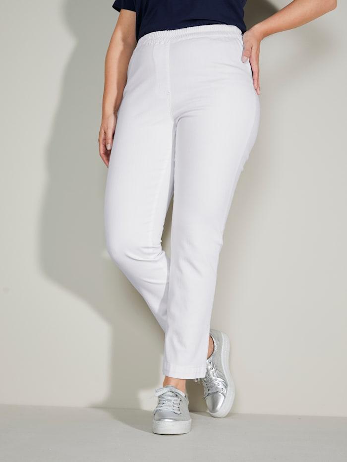 MIAMODA Jeans mit bequemem Dehnbund, Weiß