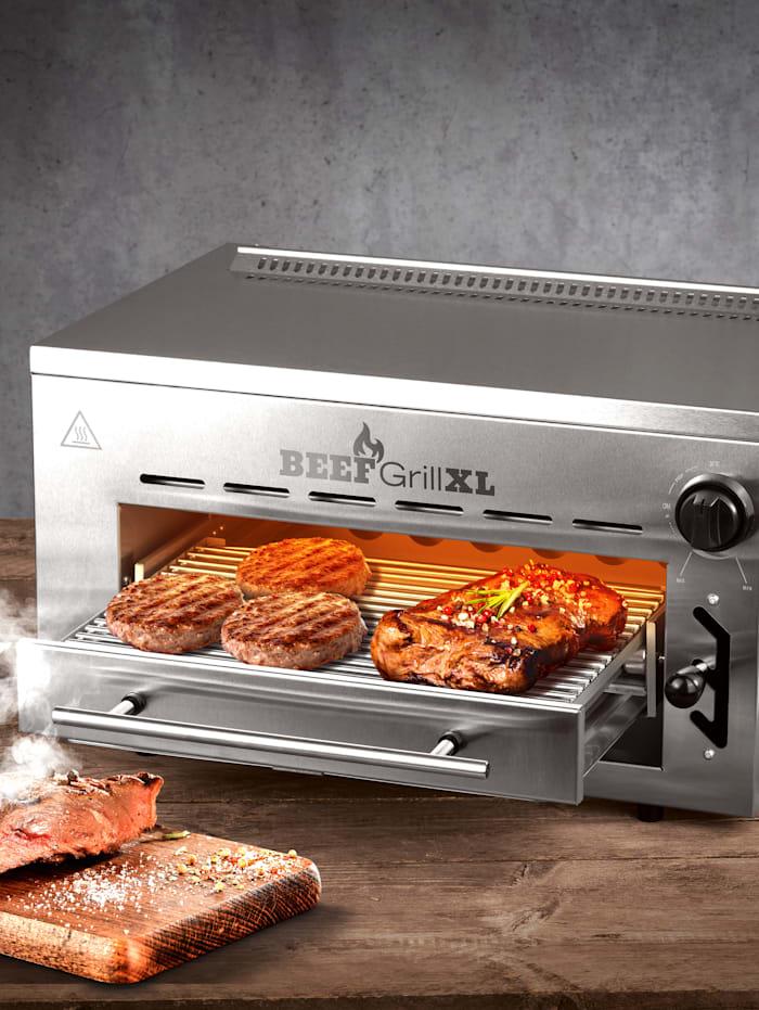GOURMETmaxx GOURMETmaxx Beef Grill XL, zilverkleur