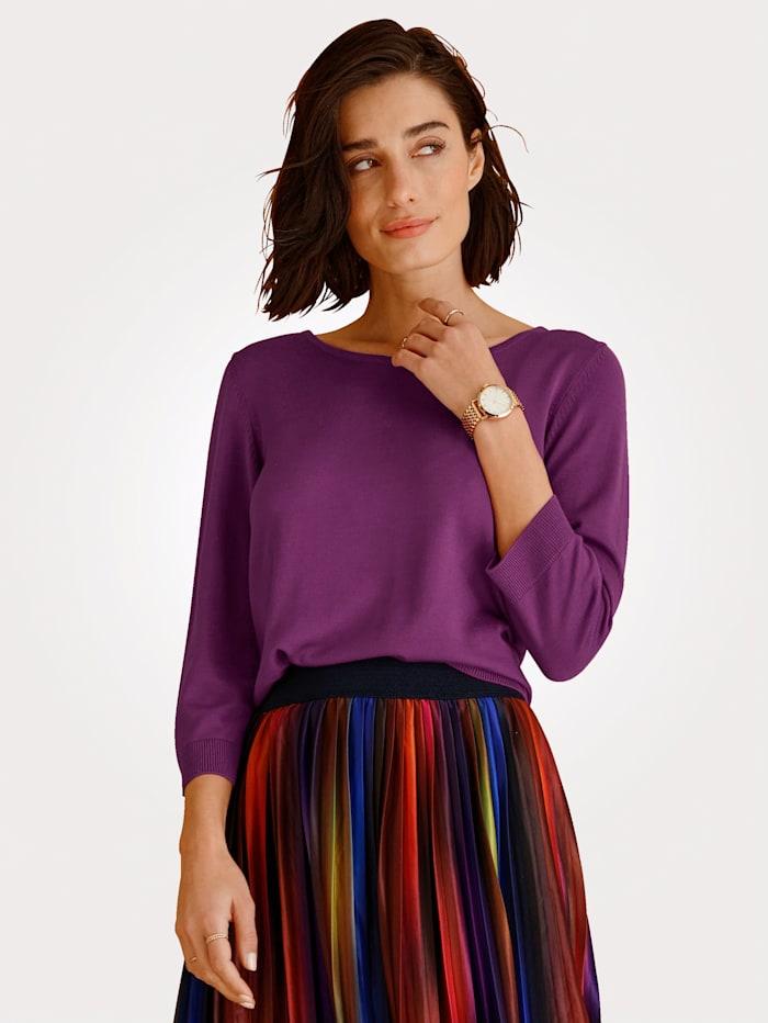 MONA Pullover in Feinstrick, Fuchsia