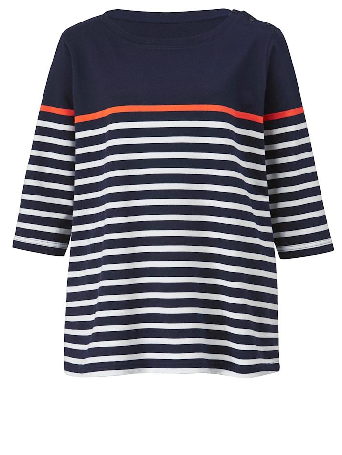 Sweatshirt mit bequemem U-Boot-Ausschnitt