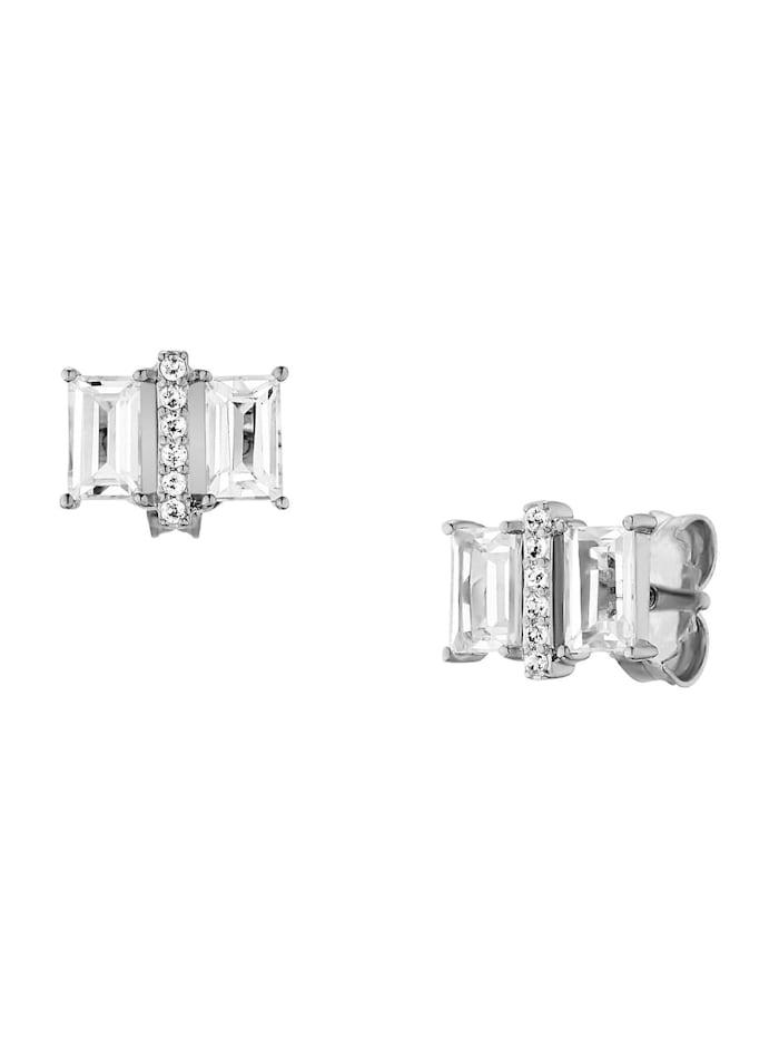 CAI Caï Damen-Ohrstecker 925er Silber 12 Topas, silber