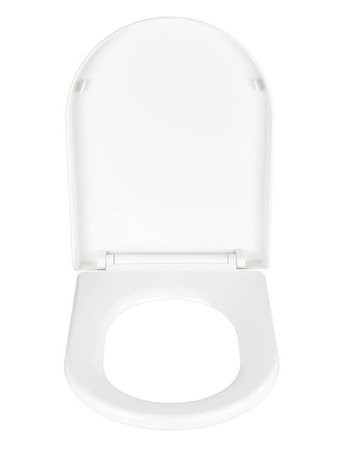 Premium WC-Sitz Calla, Thermoplast weiß, mit Absenkautomatik