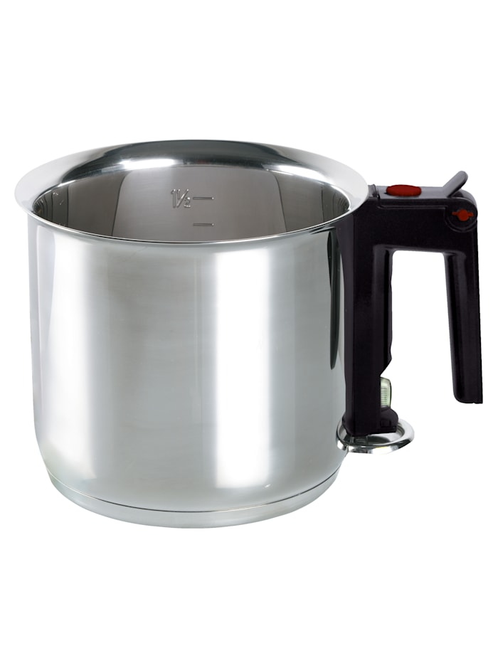 ELO Au-bain-marie-pan, Zilverkleur/Zwart