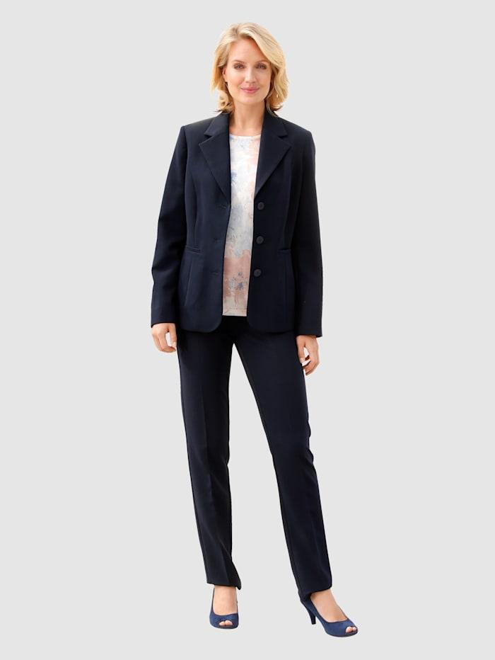 Paola Kapealahkeiset suorat housut, Laivastonsininen