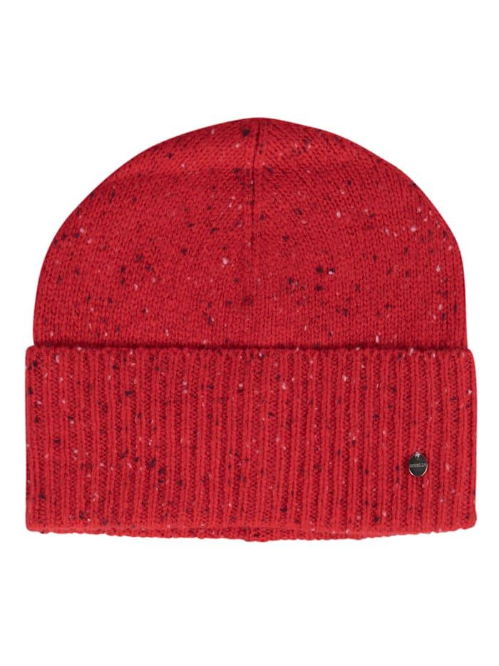Codello Kuschelwarme Strickmütze aus Wolle und Kaschmir, red