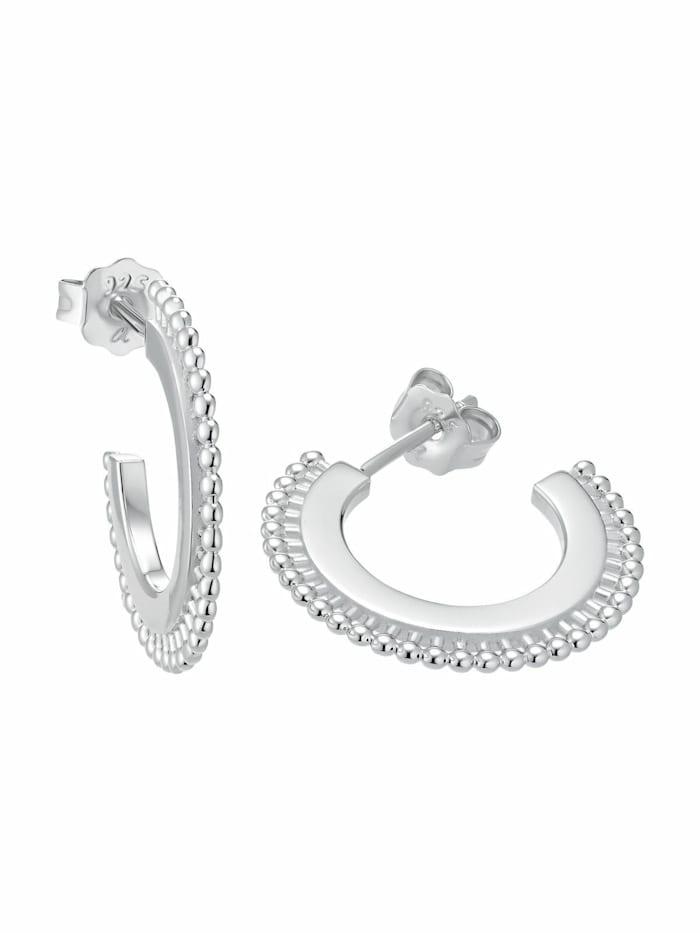 amor Creolen für Damen, Sterling Silber 925, Silber