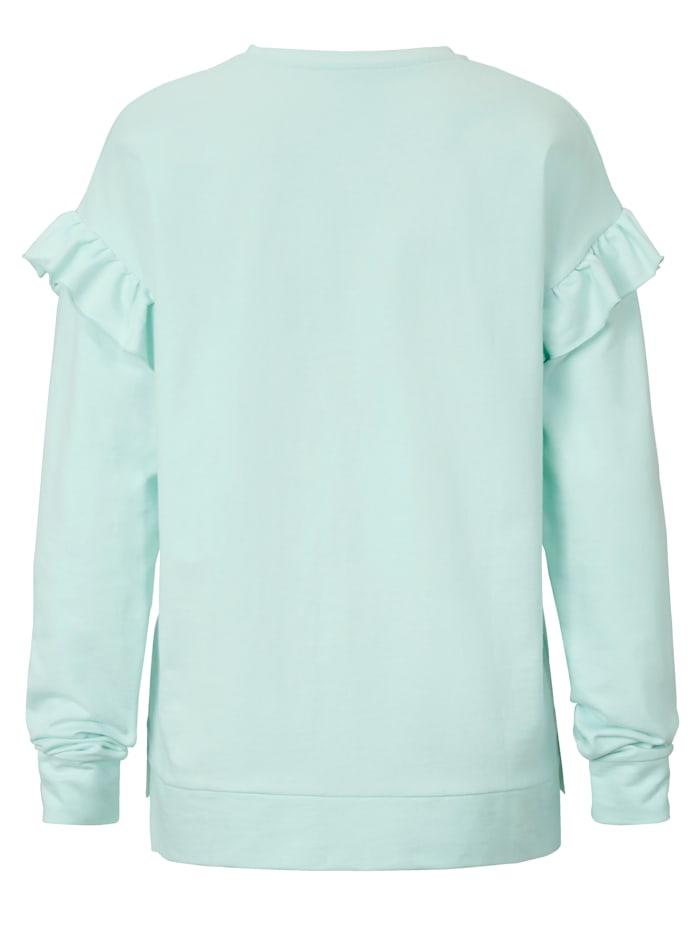 Sweatshirt mit Rüschen am Ärmelansatz