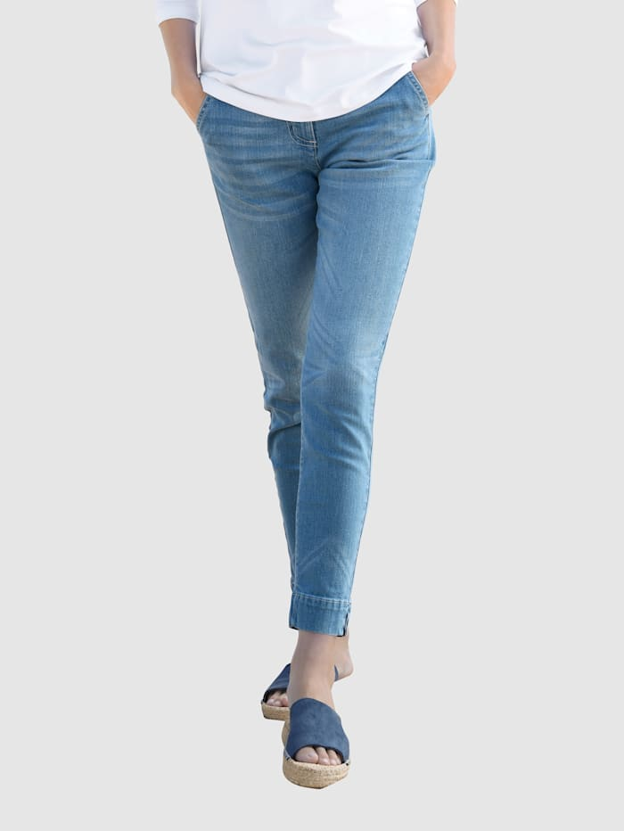basically you Jeans in Chino Style, Blue bleached