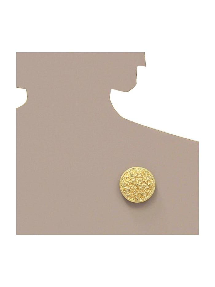 Brosche - Hiddensee 42 mm rund - Silber 925/000, vergoldet -