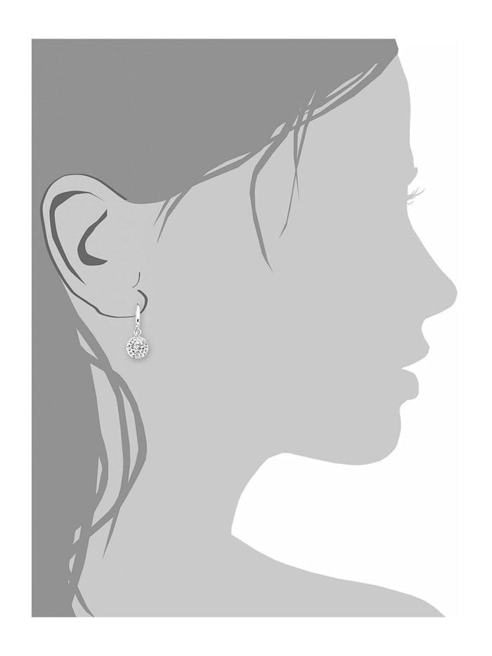 Ohrring für Damen, Sterling Silber 925, Kristallglas