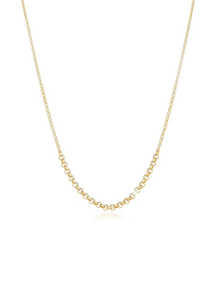 Elli Halskette Erbskette Verlauf Basic Mix 925 Sterling Silber, Gold