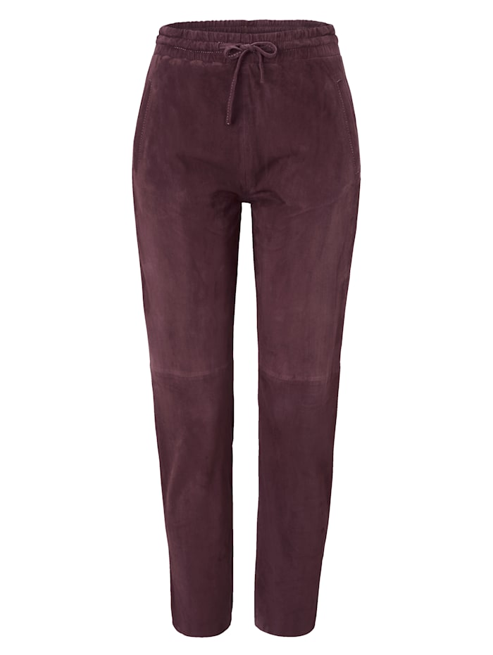 OAKWOOD Velourslederhose, Bordeaux