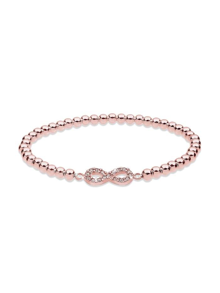 Elli Armband Infinity  Kristalle 925 Silber, Rosegold