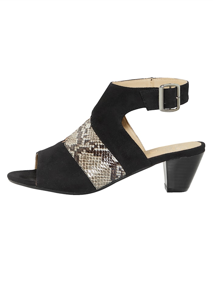 Sandaler med reglerbar vristrem