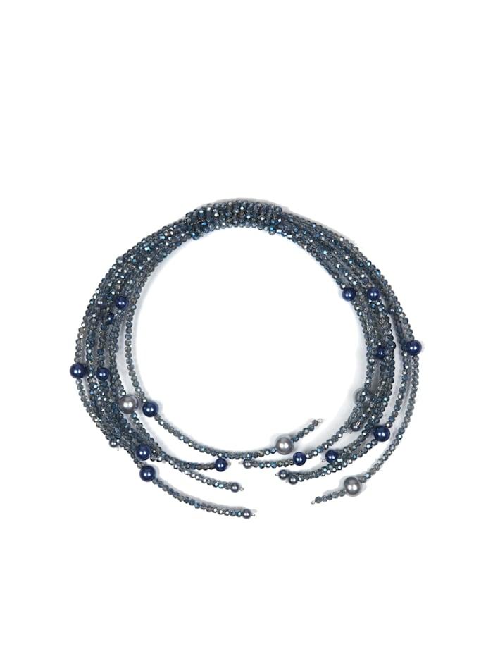 Allgäu Rebell Trachten Halskette Xenia mit Glasperlen, blau