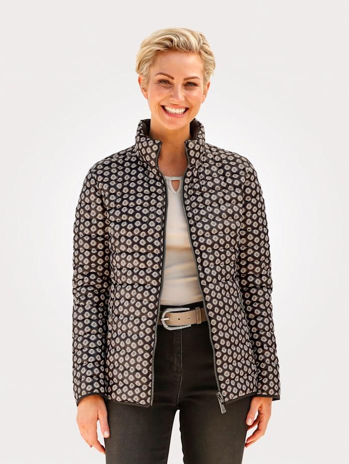 Barbara Lebek Reversible Jacket Can be worn on either side, Black/Beige
