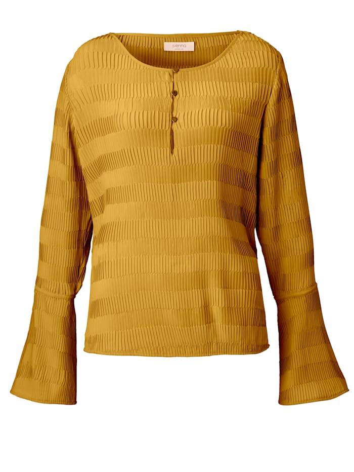 SIENNA Bluse mit Plissee, Gelb