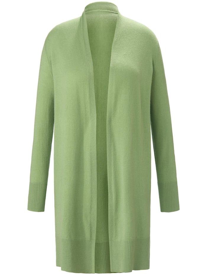 Emilia Lay Long-Strickjacke aus 100% Premium-Kaschmir ., grün
