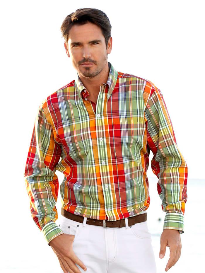 Hemd in sommerlichem Farbmix