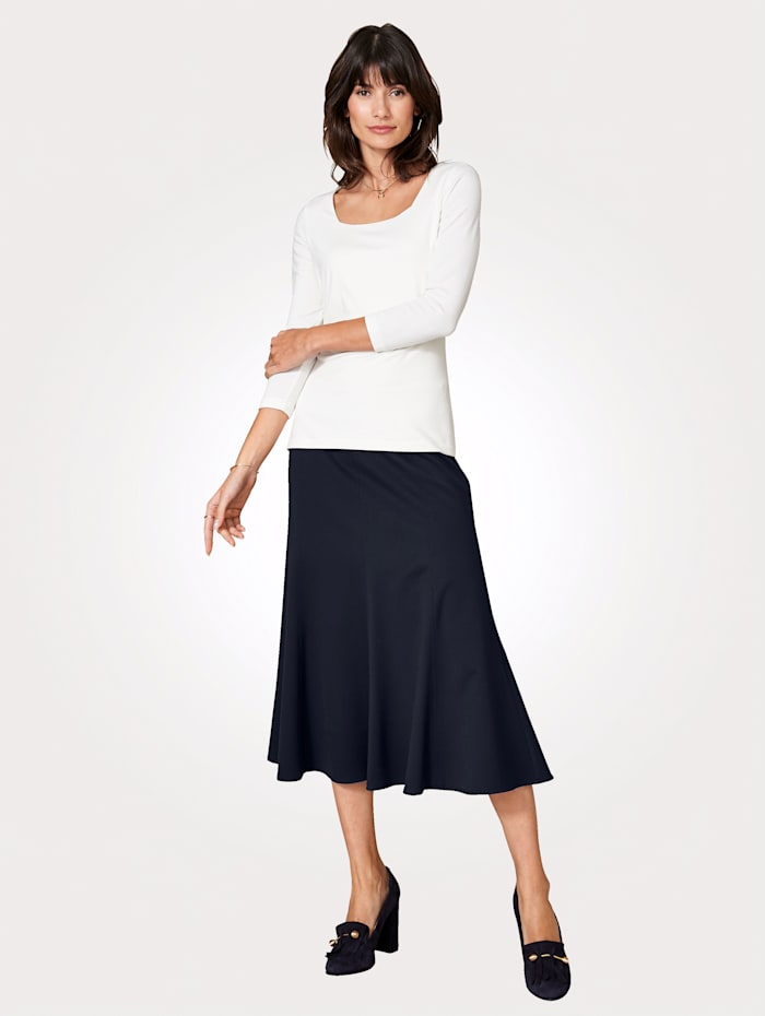 Artigiano Skirt in a two-way stretch fabric, Navy