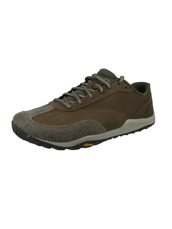 Merrell Trail Glove 5 LTR J066203 Herren Leder Squall Braun Trail Running Barefoot Run, Squall