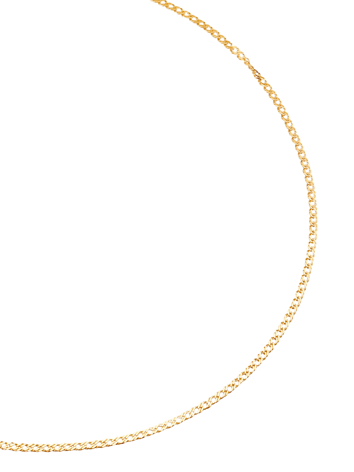 Zwillingspanzerkette in Gelbgold, Gelbgoldfarben