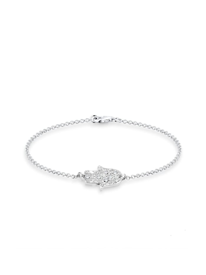 Elli Armband Hamsa Hand Swarovski® Kristalle 925 Silber, Silber