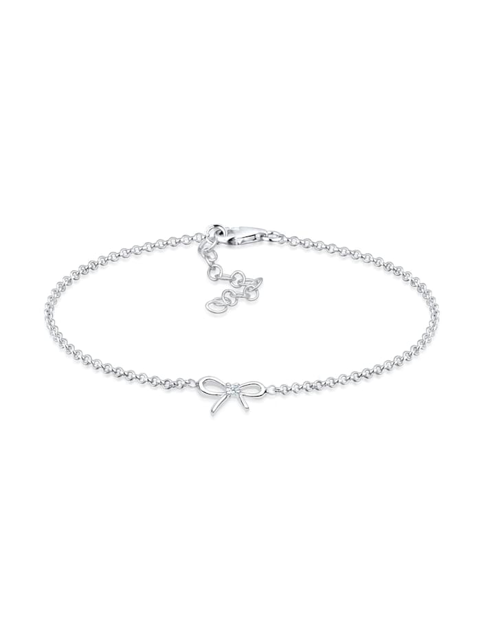 DIAMORE Armband 925 Sterling Silber Schleife Diamant Geschenkidee, Silber