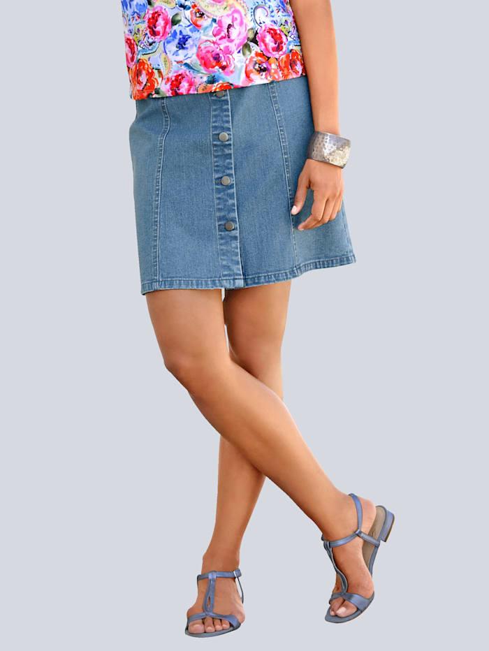 Alba Moda Rok, jeansblauw
