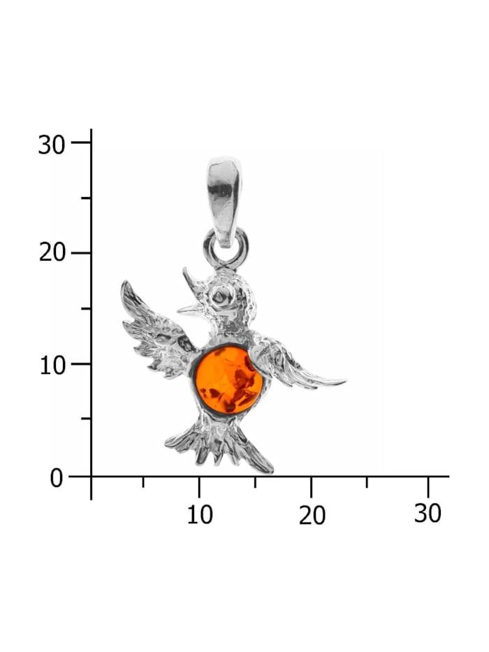 Anhänger - Kolibri - Silber 925/000 - Bernstein