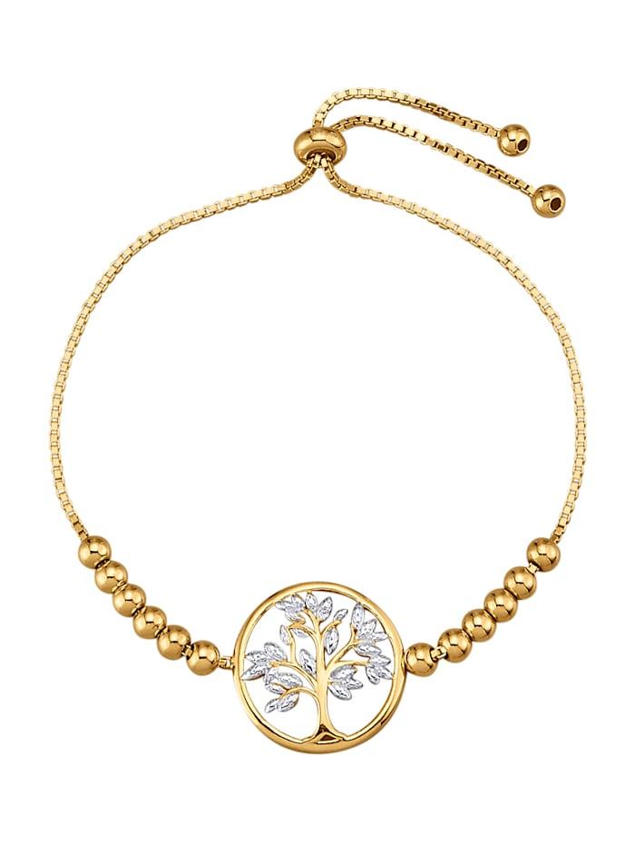Armband met diamant, Geelgoudkleur