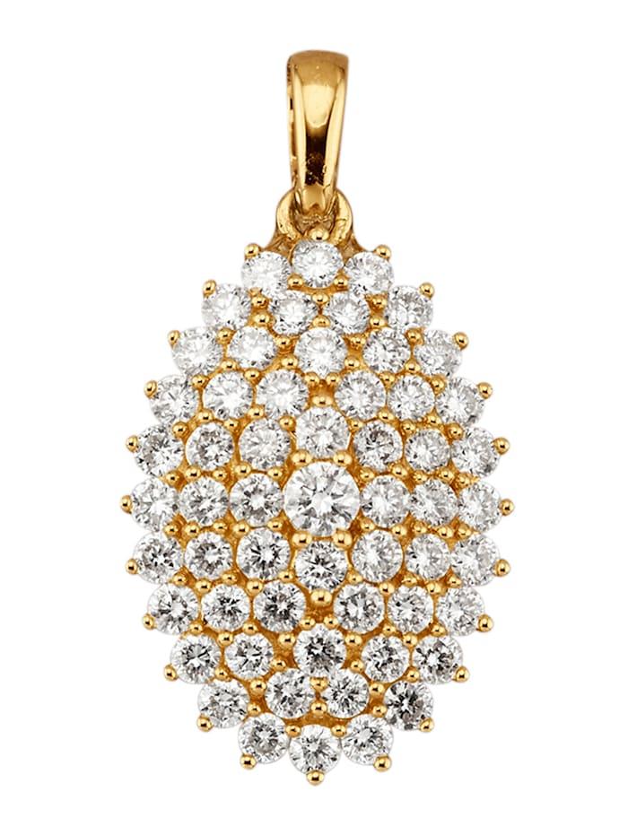 Amara Diamants Pendentif avec brillants, Coloris or jaune
