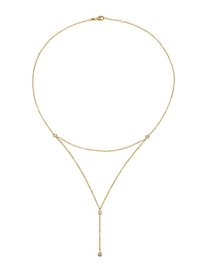 Diemer Diamant Collier mit Brillanten, Gelbgoldfarben