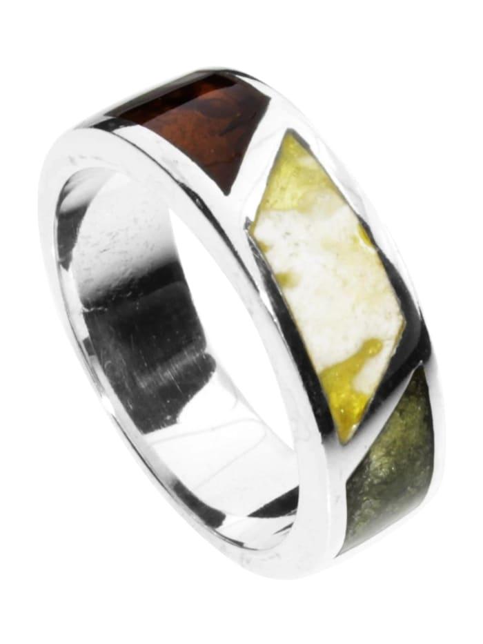 OSTSEE-SCHMUCK Ring - Byrte - Silber 925/000 - Bernstein, silber