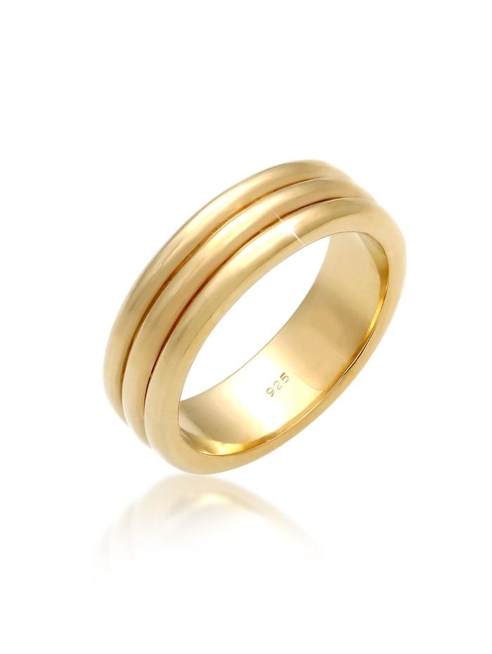 Elli Premium Ring Paarring Drei Ringe Trauring Hochzeit 925 Silber, Gold