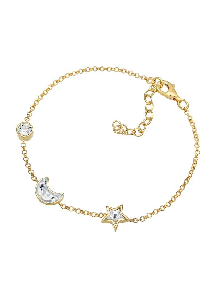Armband Astro Stern Mond Kristalle 925 Silber