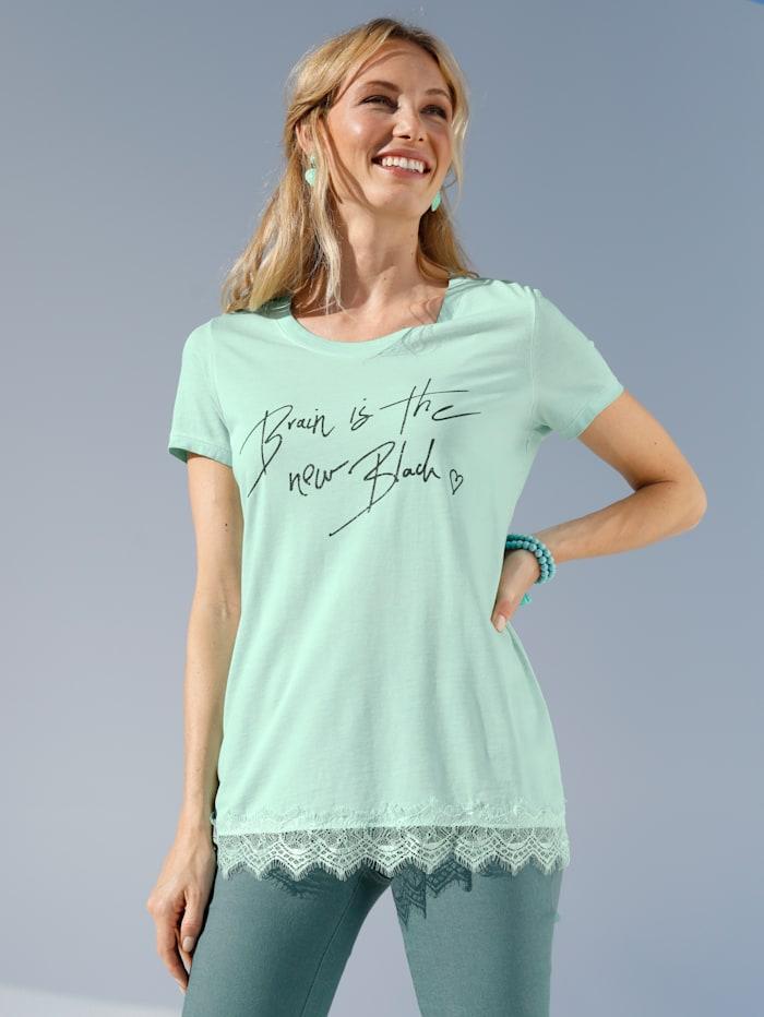 AMY VERMONT T-shirt à imprimé brillant, Turquoise