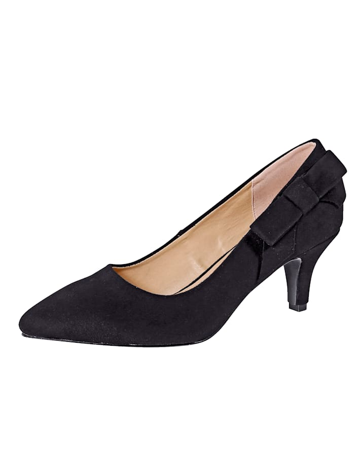 Liva Loop Court Shoes in a sophisticated design, Black