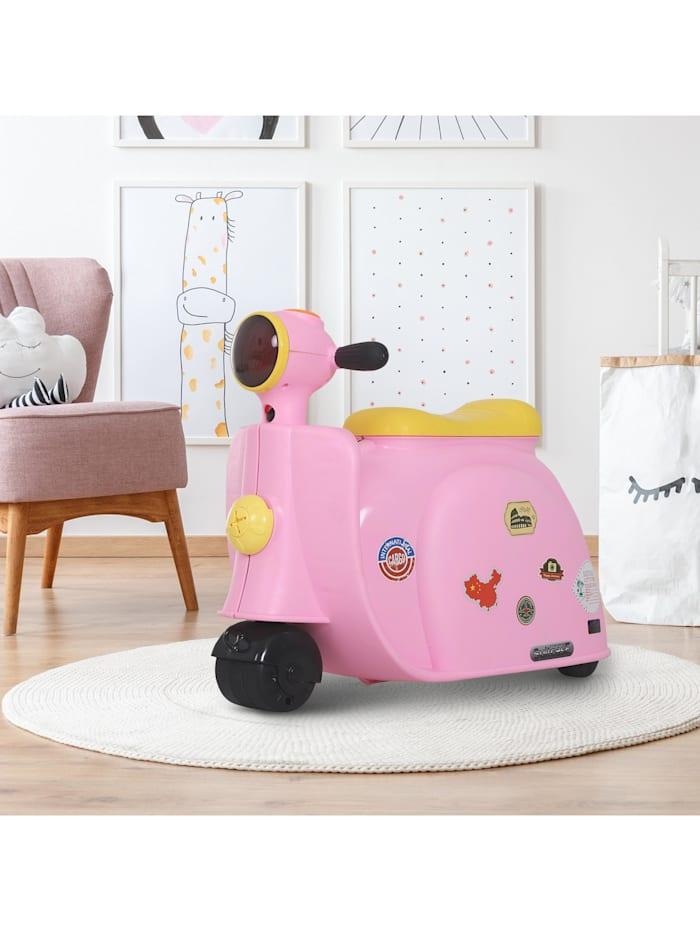 Kinderkoffer als Motorrad