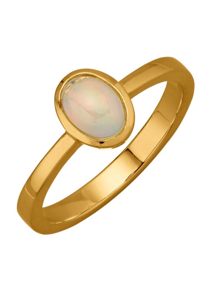 Damenring mit Opal, Weiß