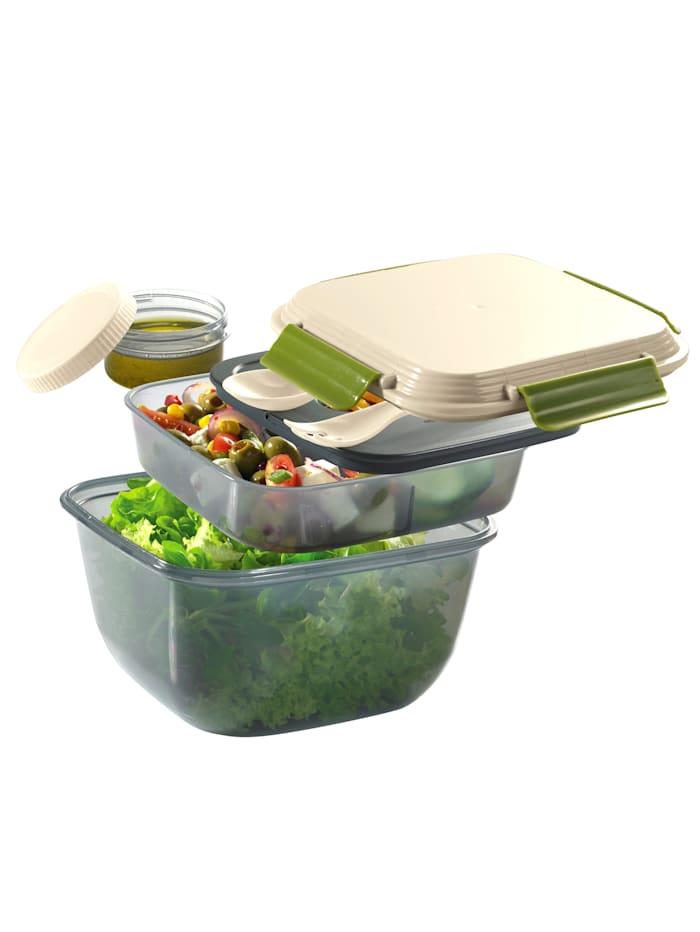 Cilio Lunch box 'FRESH', Beige/Grün