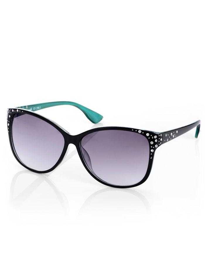Sonnenbrille mit Farbinszenierung