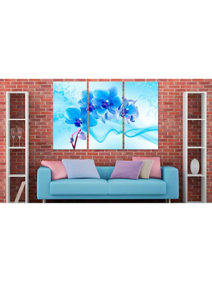Wandbild Ethereal orchid - blue