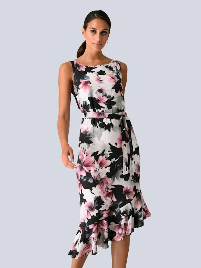 Alba Moda Kleid im exklusiven Alba Moda Druck, Schwarz/Weiß/Grau/Pink