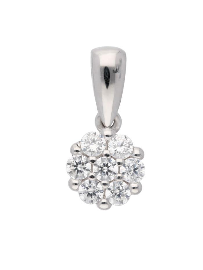 1001 Diamonds 1001 Diamonds Damen Goldschmuck 333 Weißgold Anhänger mit Zirkonia, silber
