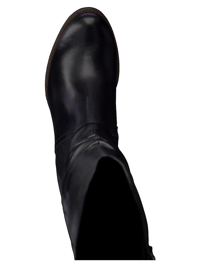 PREMIO 2-2-25631-25 Damen Stiefel Elegant Leder Schwarz 002 BLACK ANTIC