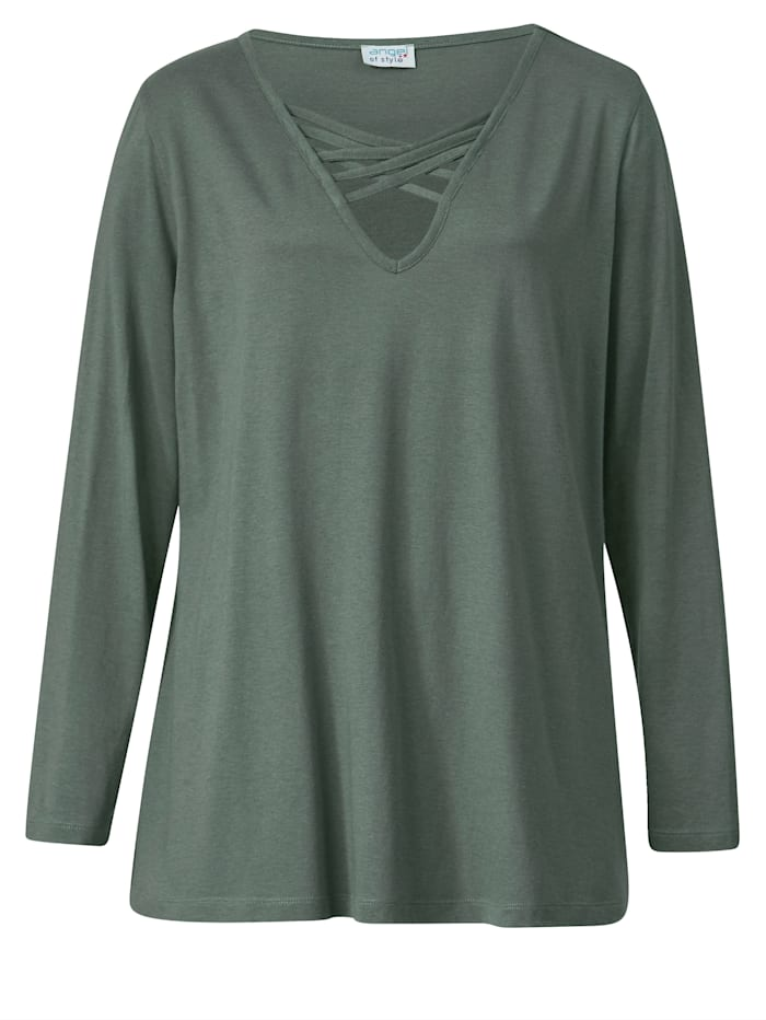Shirt met siervetersluiting